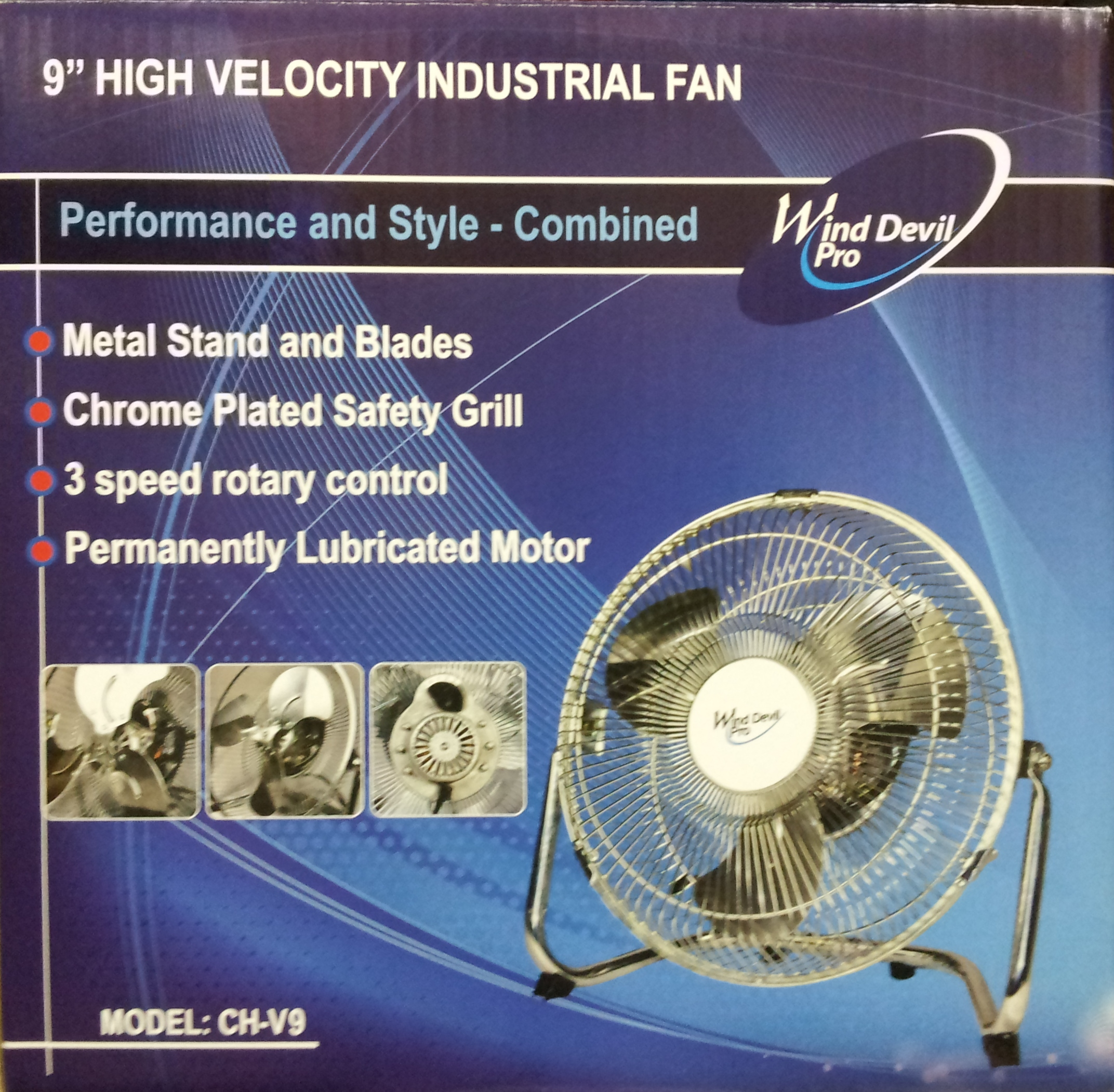 Wind Devil Floor Fan 9""