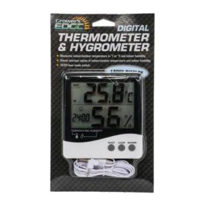 Grower's Edge Large Display Digital Thermometer & Hygrometer
